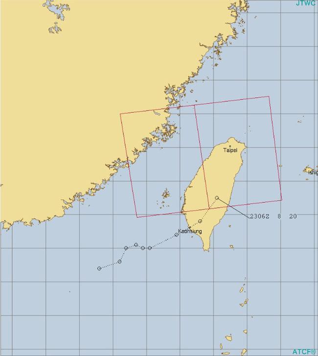 台風21号が疑われる低気圧